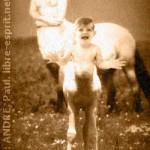 Une centauresse et son enfant