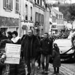Marche silencieuse à Chateaulin - 11 janvier 2015