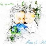 Une mère et sa fille, coquettes