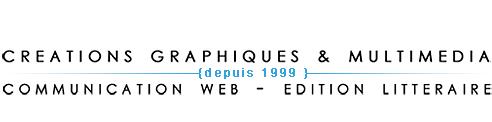 Créations graphiques & multimédia, communication web et édition littéraire